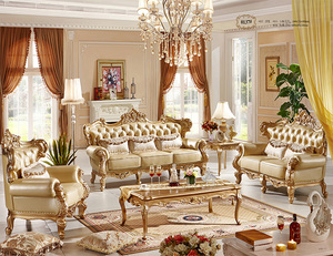 living room used luxury leather sofa set furniture