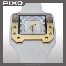 PX-11 Wholesales best selling stainless steel japan quartz movt GOLD WHITE european brand slim Army Style men wrist watches