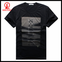 2015 men t shirt cotton hemp casual slim solid t shirts bold printing for younger thin and short sleeve plus size