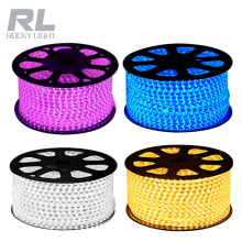 3528 5050 smd outdoor waterproof 100m/roll led strip light 220-240V 110V IP 68 Flexible string led grow light strip