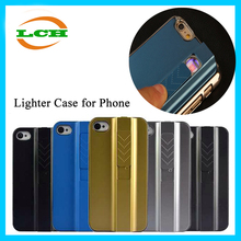 Hotsale shockproof ABS explosion-proof lithium polymer battery Lighter cigarette case cover for iphone 6 / 6s
