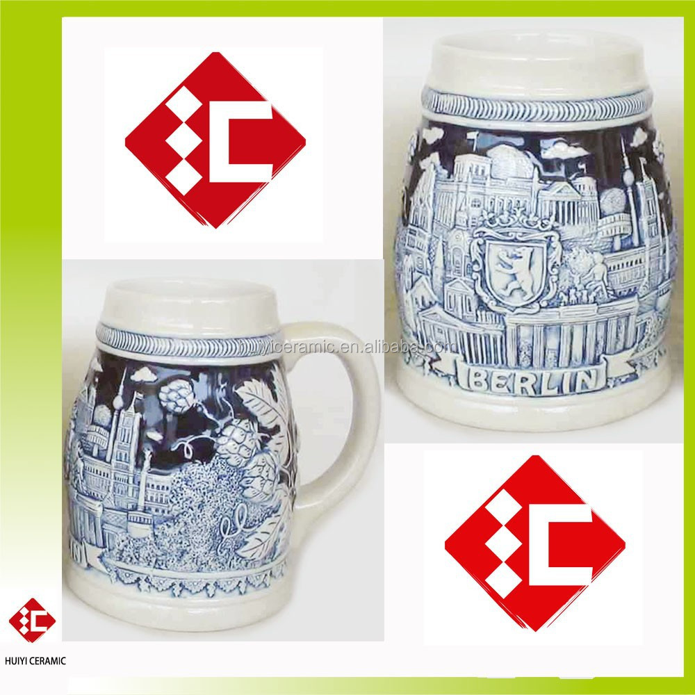 Hot Sale and Whole Sale Berlin Ceramic Beer Mug