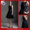 c01192 Scoop Neckline Black Lace Women Cocktail Dress 2013 With Black Sash