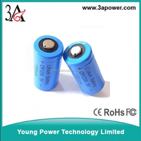 3v strong light flashlight batteries 3v rechargeable battery CR123A 16340 1300mah rechargeable lithium battery