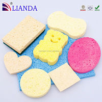 Dish wash magic cleaning sponge, size custom cellulose casing, cotton made cellulose sponge pad