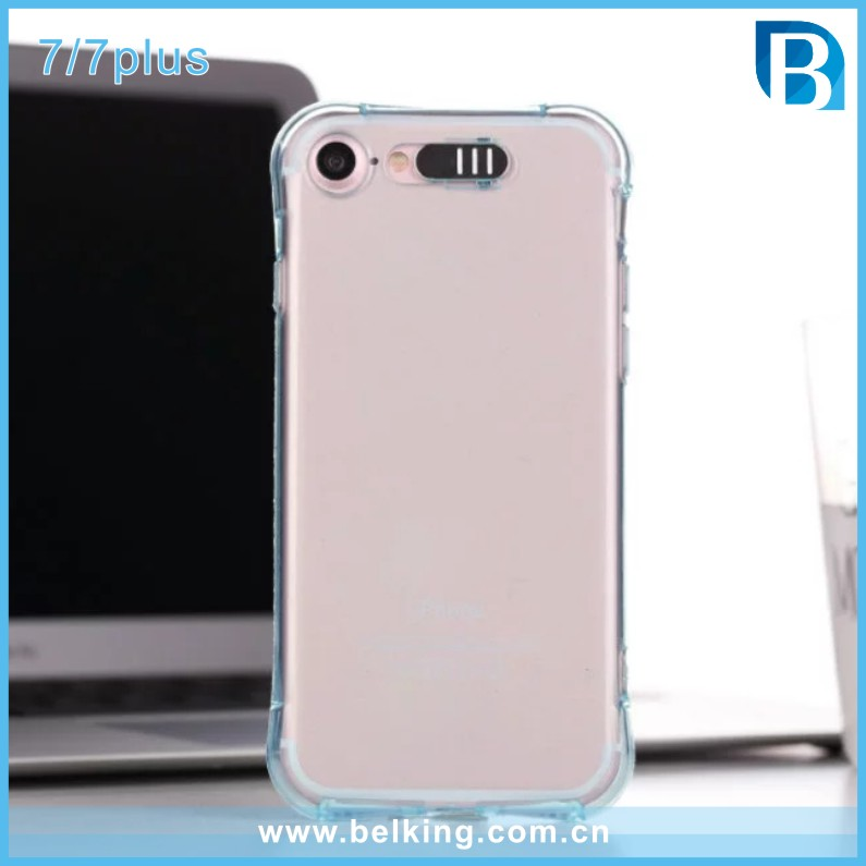 Small Waist TPU Call Flash Rubber Mobile Cover For iPhone 7 7Plus Transparent Case