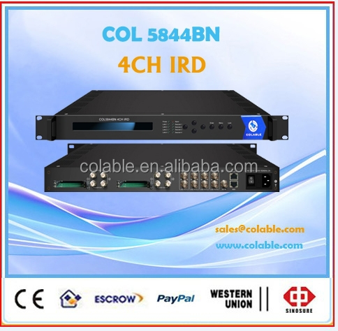 digital tv headend satellite receiver,4 ch qpsk ird ,dvb-s2 4ch ird COL5844BN