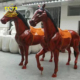 Custom outdoor garden landscape sculpture fiberglass resin painted animal horse