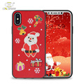 Christmas customize embroidery color and textures decorative cover for iphone x cases art covers in bulk