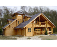 Cheap modular wooden house independent prefabricated wood house