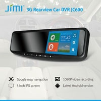 JiMi Newest 3G Smart Rearview Mirror DVR 3g mobile jc600 android 4.2 car dvd player with gps dvr