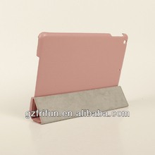 Cute pink color hard cover laptop leather case for ipad air
