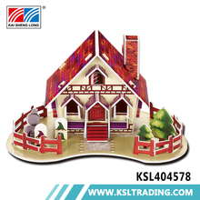 55pcs education paper eps diy mini house 3d jigsaw puzzle