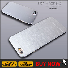 Brushed metal motomo case for iphone 6, for iphone 6 6s aluminum motomo case