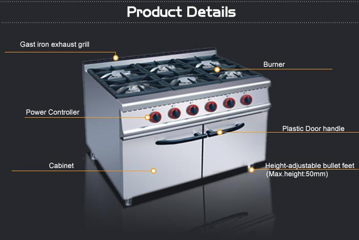Gas Range Professional Commercial cast iron stoves ireland