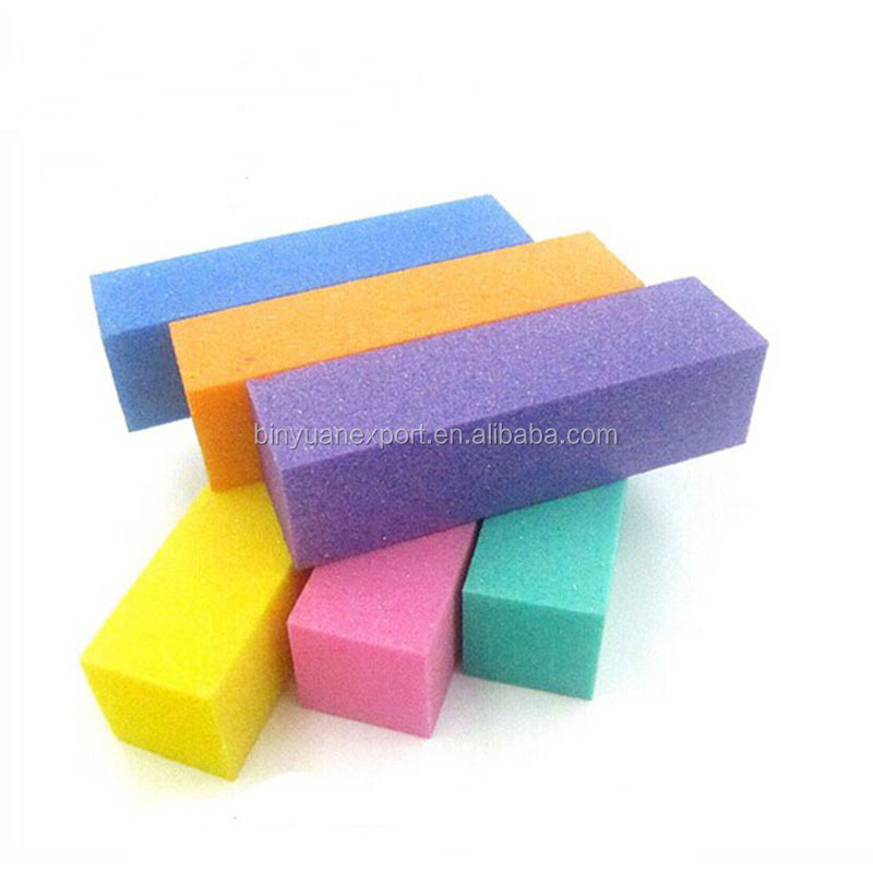 2015 new design 4-way block sand paper nail file