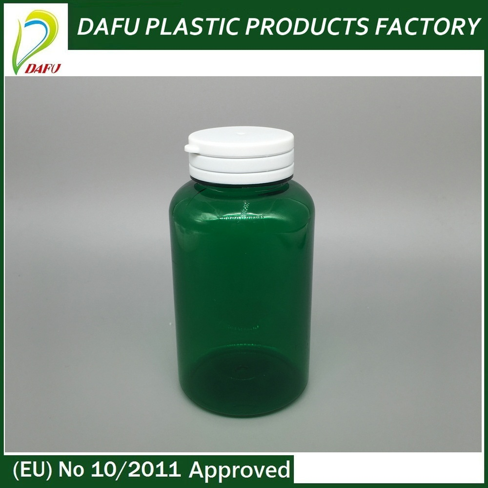 Accept custom green 200ml pills tearing medicine pet plastic container