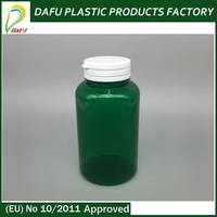 Accept custom green 200ml pills tearing medicine pe plastic container