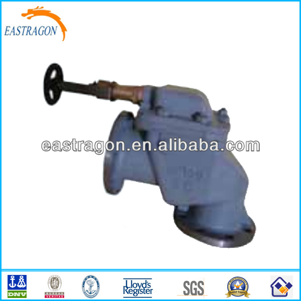JIS Cast Steel Angle Type Storm Safety Valves 5K DN50--DN150