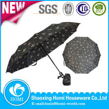 Butterfly Printed Easy Sun Parasol Umbrella Sonnenschirm