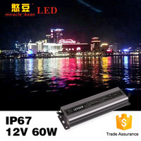 IP67 60w 5a constant voltage led driver waterproof 12v power supply