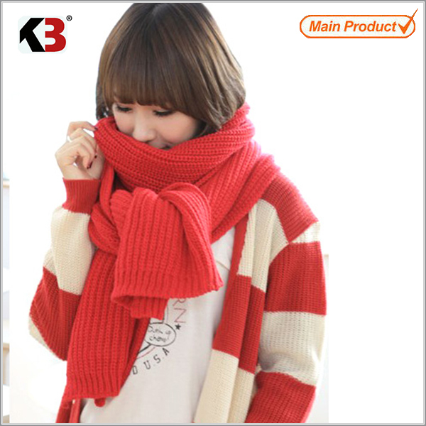2016 Fashion plain knitted winter scarf viscose scarf rayon shawl knitted scarf latest design