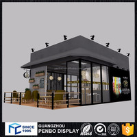 Good design wooden shop outdoor coffee kiosk for sale