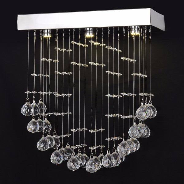 decorative hanging ball chandelier led crystal lighting <strong>modern</strong>