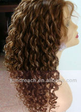 "Beauty 20""6# tight curly 100% Malaysian virgin hair lace front wig,accept escrow"