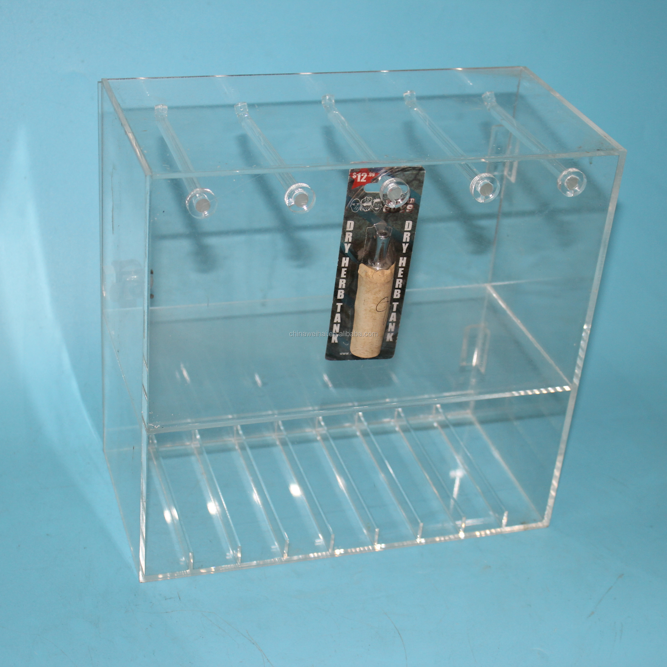 Clear Acrylic Smoke Electronic Display Stand