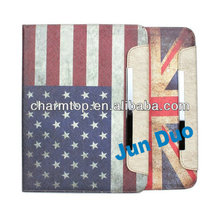 2013 Hot Flag Design Wallet Leather Case For iPad 5