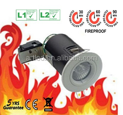 twist lock die-casting MR16 Fire guard downlighter SATIN NICAL