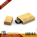 Custom Logo Wooden Material Rectangular 4GB USB Pen Drive