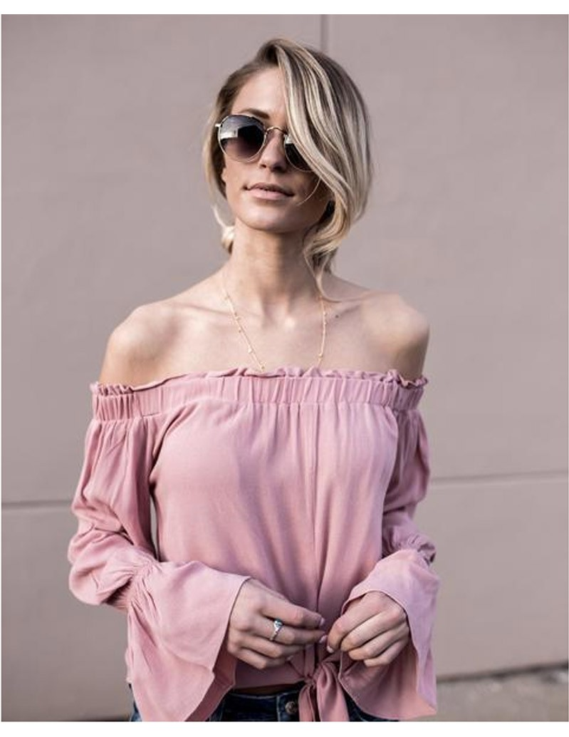 Fashion New Arrival Women T Shirt Off Shoulder Blouse