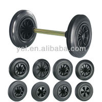 8inch rubber wheels for two wheeled containers