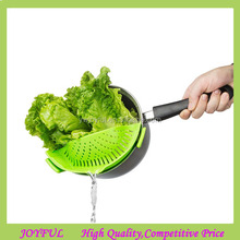 Snap'N Strain Kitchen Silicone Clip-On Strainer Pan Pot Strainer for Draining Food While Cooking