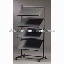 hot sale iron brochure stand/iron literatrure rack/magazine holder