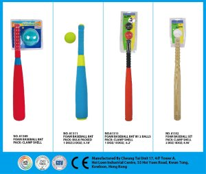Outdoor Sports Toy Foam Plastic Baseball Bat with Ball set for Kids