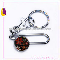 Rainbow flower ball metal keyfinder with keychain 2013 New Arrival ! hot !