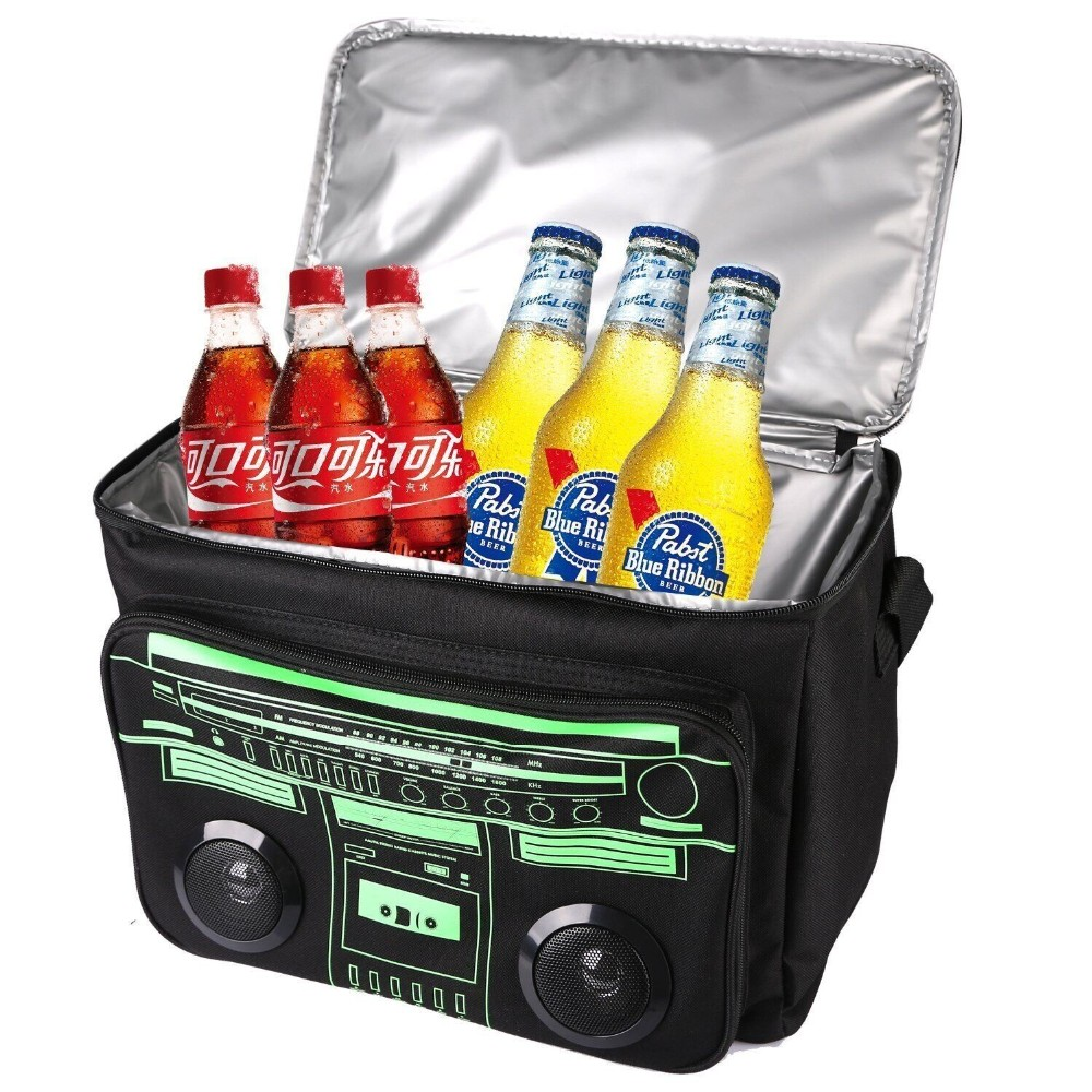 Large Insulated Bluetooth Beer Cooler Bag With Wireless Bluetooth Speaker