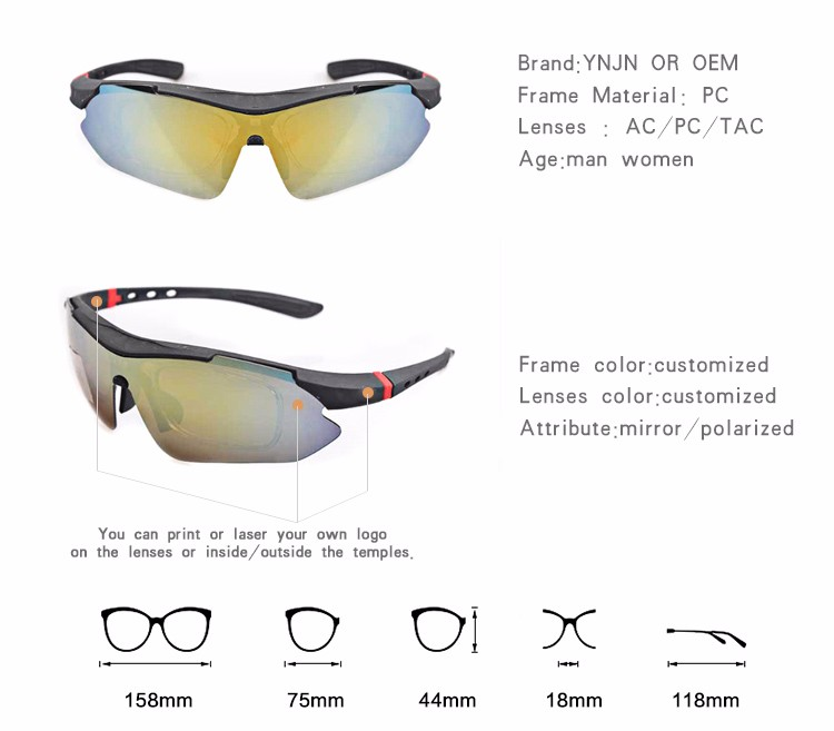 China supplier half frame pc frame novelty cycling man sport glasses surf sunglasses