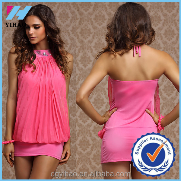 Yihao 2015 Women Sexy Halter neck Bodycon dress new model ladies casual Clubwear Short Dresses pictures