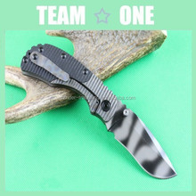 G10 Handle Folding Tiger Striped Blade