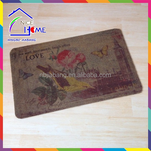 Thermal transfer print fashionable hot-sale coco fiber door mat