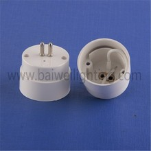 T8 end cap with G5 pins led lamp holder white end cap