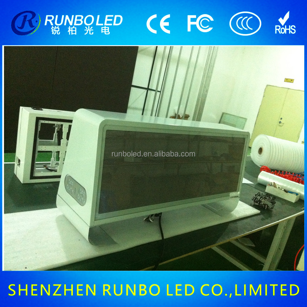 Top Quality car mounted led screen advertising