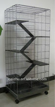 5 Levels Wooden Ladder Big Metal Ferret Cage, Chinchilla Cage, Hamster Cage