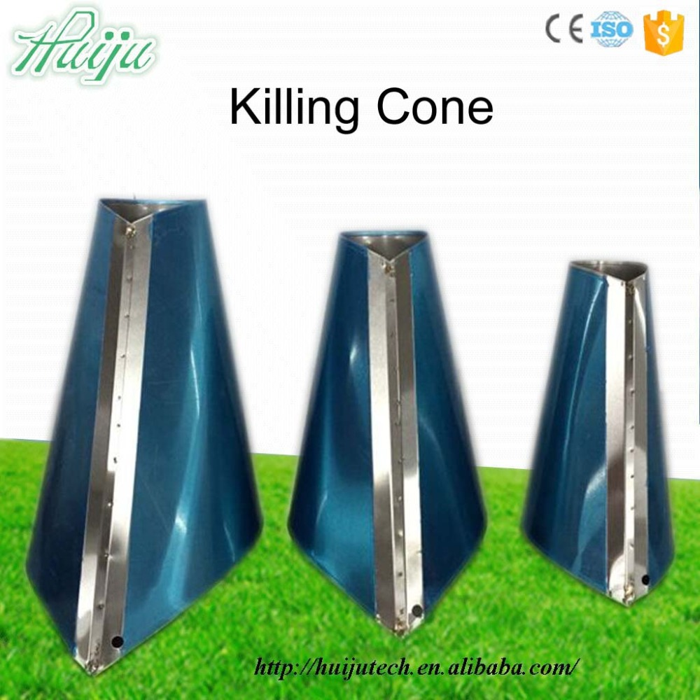 Cheap Price Chicken stainless steel killing cone for poultry S,M,L,XL,XXL size HJ-OS
