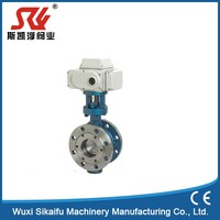 Quality primacy flange end concentric butterfly valve dn200 Hot sale