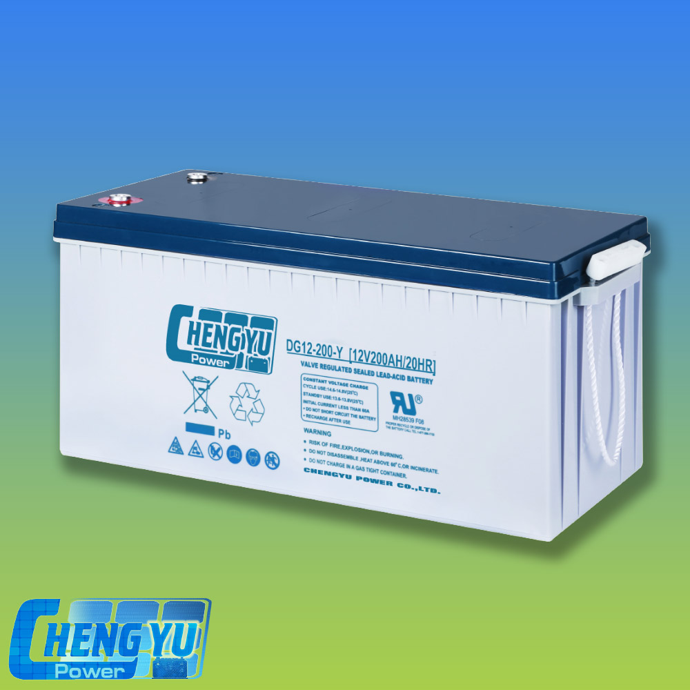 Sealed Type 12V 200Ah Gel Deep Cycle Battery